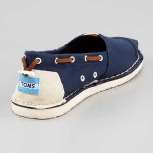 TOMS Bimini stitch out drawstring boat shoes
